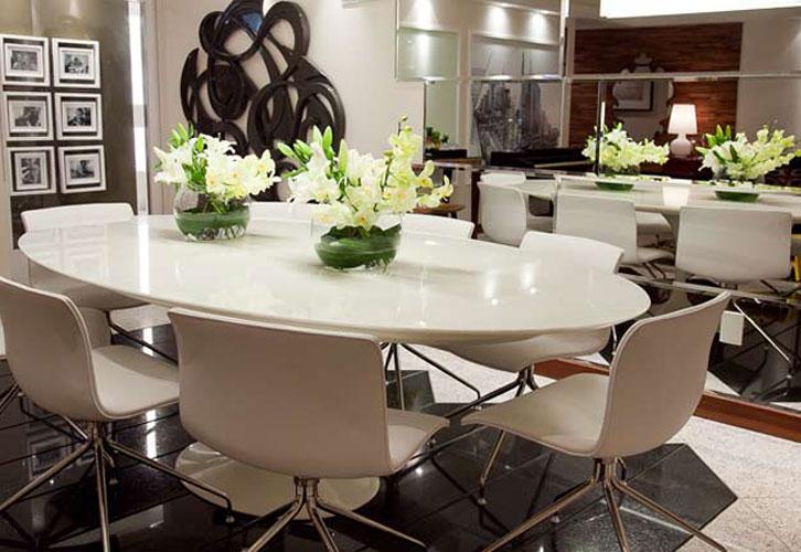 Alguns interiores de luxo na cor branca Projetos de ...