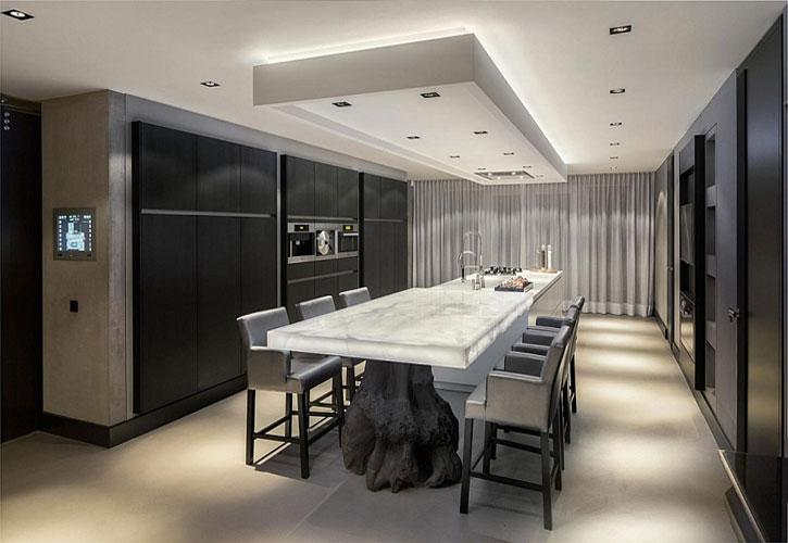 decoracao de interiores cozinha moderna:Cozinhas modernas e elegantes com design Projetos de decoração de