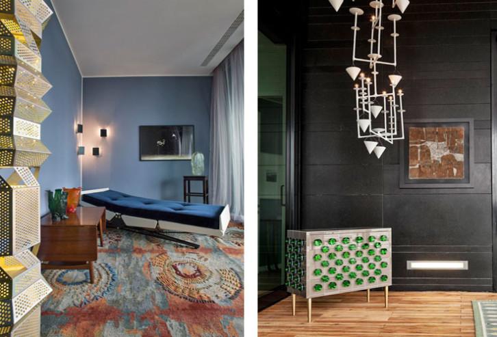 Decoração rejuvenescida pelo luxo do passado em Milão