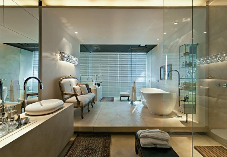 decoracao de interiores de casas de luxo:Casas de banho com pormenores de luxo Projetos de decoração de