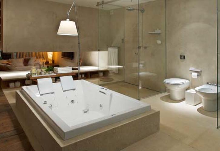 decoracao de interiores de casas modernas : decoracao de interiores de casas modernas:Casas de banho com pormenores de luxo Projetos de decoração de