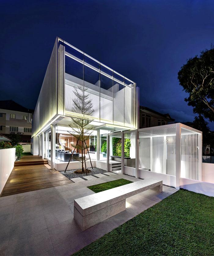 Greja a casa de vidro em Singapura