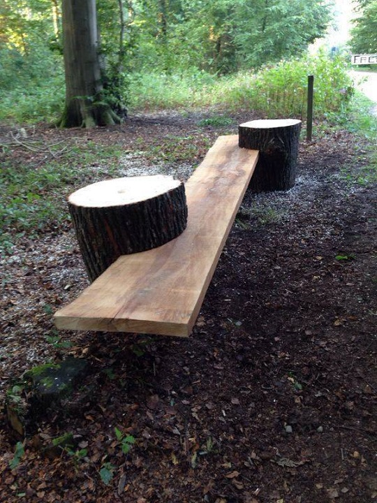 Algumas ideias originais para móveis jardim