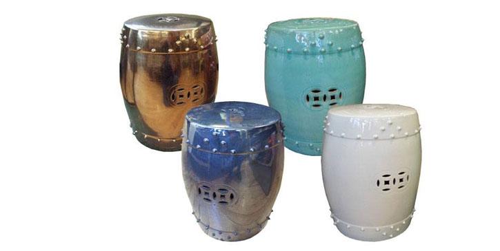 Os tamboretes na decoração de hoje