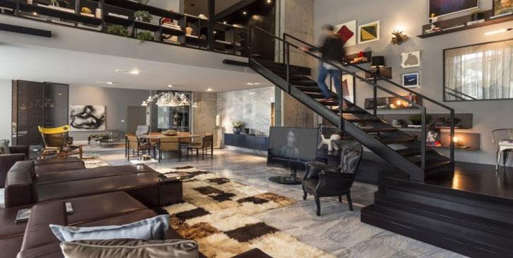 A combinação entre a arte e o design num loft