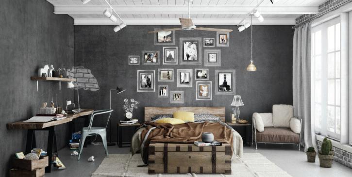 Transporte a decoração industrial para a sua casa