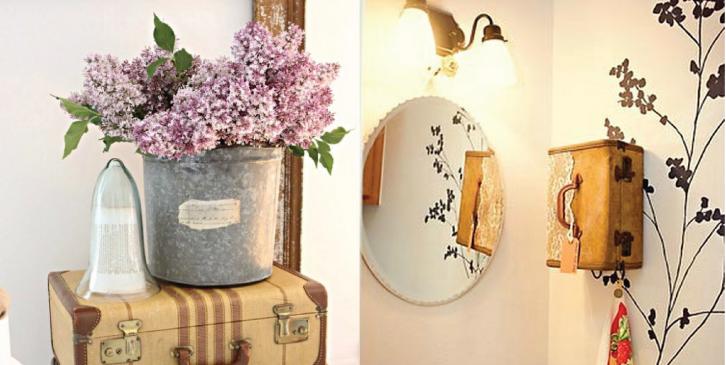 Decoração num estilo vintage em sua casa