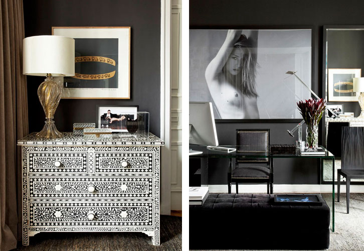 Um apartamento de um estilista ousado