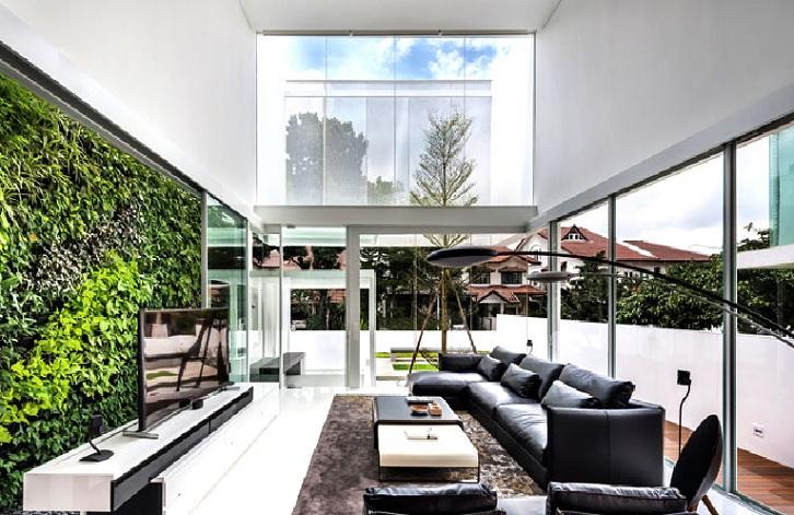 Greja uma casa de vidro em Singapura
